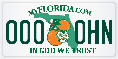 FL license plate 0000HN