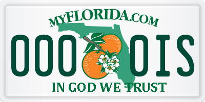 FL license plate 0000IS