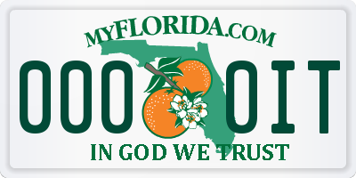 FL license plate 0000IT