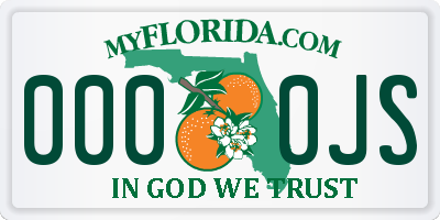 FL license plate 0000JS