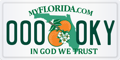 FL license plate 0000KY