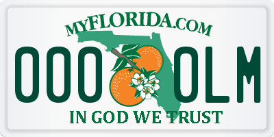 FL license plate 0000LM