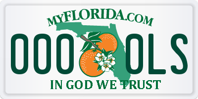 FL license plate 0000LS
