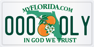 FL license plate 0000LY