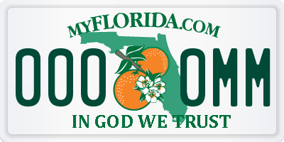 FL license plate 0000MM