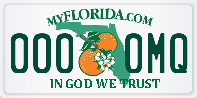 FL license plate 0000MQ