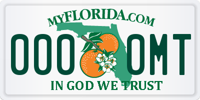 FL license plate 0000MT