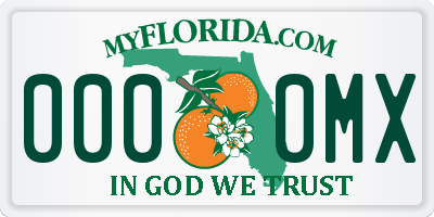 FL license plate 0000MX