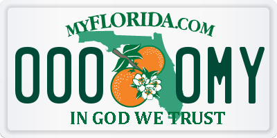 FL license plate 0000MY
