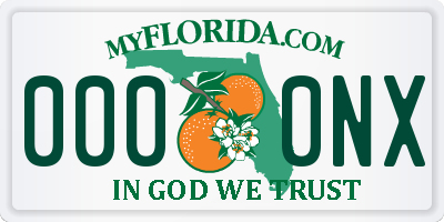 FL license plate 0000NX