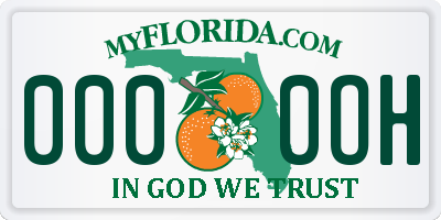 FL license plate 0000OH