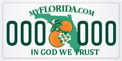FL license plate 0000OO