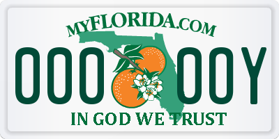 FL license plate 0000OY