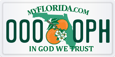 FL license plate 0000PH