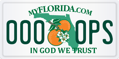 FL license plate 0000PS