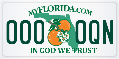 FL license plate 0000QN