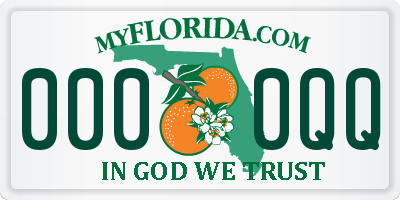 FL license plate 0000QQ