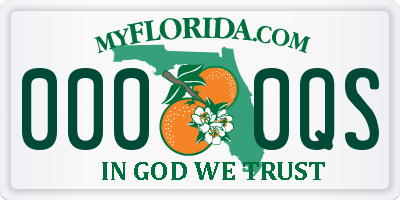 FL license plate 0000QS