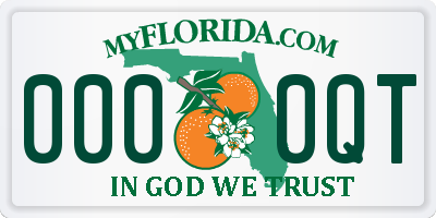 FL license plate 0000QT