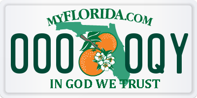 FL license plate 0000QY