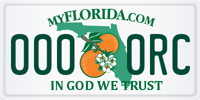 FL license plate 0000RC