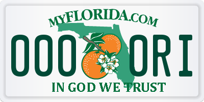 FL license plate 0000RI