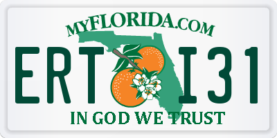 FL license plate ERTI31