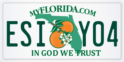 FL license plate ESIY04