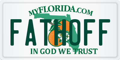 FL license plate FATHOFF