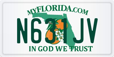 FL license plate N631JV