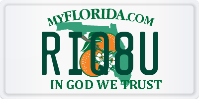 FL license plate RIQ8U