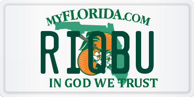 FL license plate RIQBU