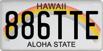 HI license plate 886TTE