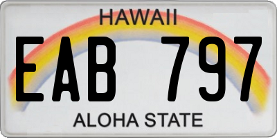 HI license plate EAB797
