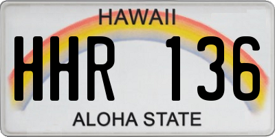 HI license plate HHR136