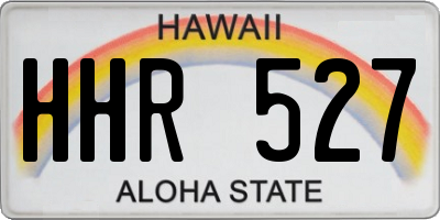 HI license plate HHR527