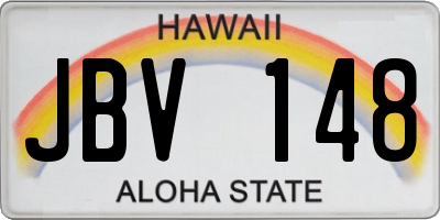 HI license plate JBV148