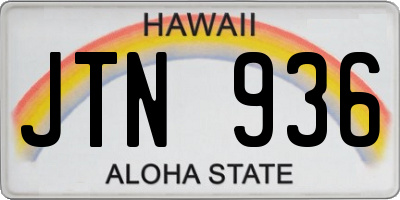 HI license plate JTN936