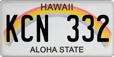 HI license plate KCN332