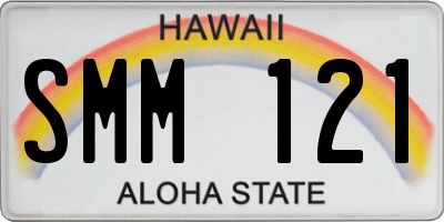 HI license plate SMM121