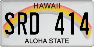 HI license plate SRD414