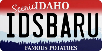 ID license plate IDSBARU