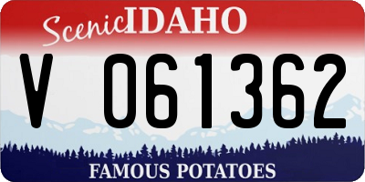 ID license plate V061362