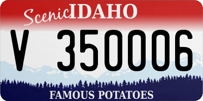 ID license plate V350006