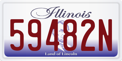 IL license plate 59482N