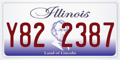 IL license plate Y822387