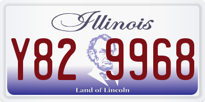 IL license plate Y829968