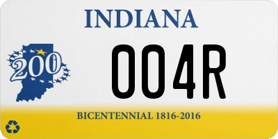 IN license plate 004R