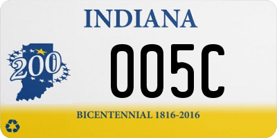 IN license plate 005C