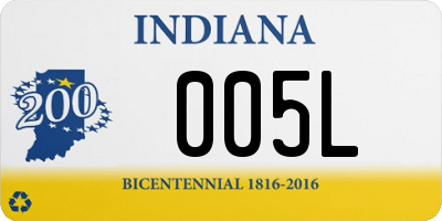 IN license plate 005L